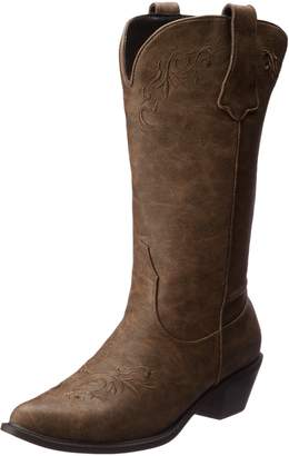 Roper Women's Western Embroidered Fashion Boot Tan Boot 6 B - Medium