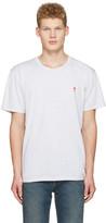 Ami Alexandre Mattiussi Grey Ami Coeur Embroidery T-shirt