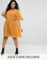 Asos Soft Cape Sleeve Mini Dress