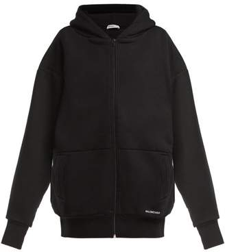 Balenciaga Oversized Cotton Hooded Sweatshirt - Womens - Black