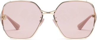 Gucci Specialized fit oval-frame sunglasses