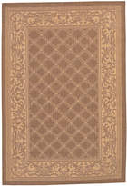 "Couristan Area Rug, Recife Indoor/Outdoor Cubic Garden Lattice/Natural-Cocoa 1016/3000 5'3"" x 7'6"""