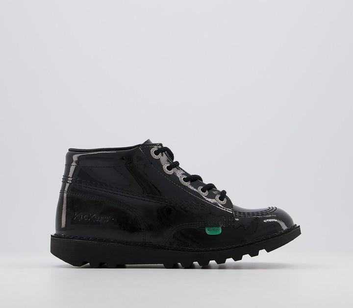 Kickers Kick Hi Patent Youth Boots Black Patent