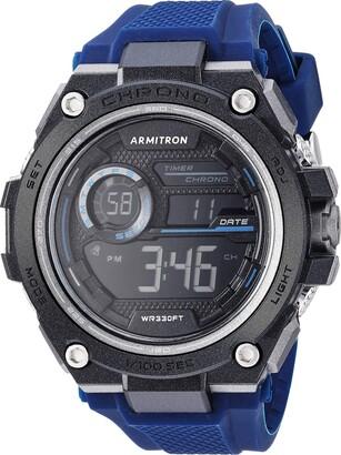 Armitron Sport Men's 40/8450BRD Digital Chronograph Red Silicone Strap Watch