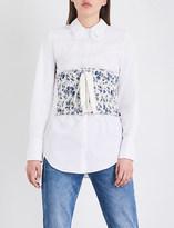 Claudie Pierlot Byzance floral-jacquard corset