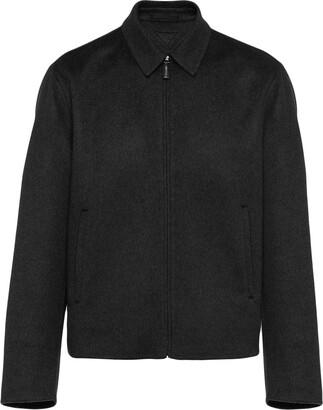 Prada Shirt Style Zip Jacket