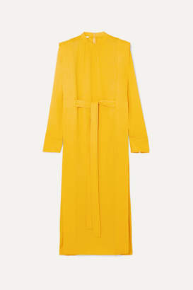 Stella McCartney Net Sustain Belted Cady Midi Dress - Yellow