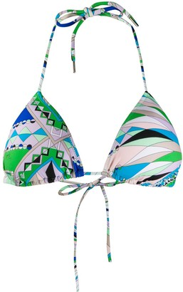 Emilio Pucci Abstract Print Bikini Top