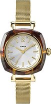 Timex Women's TW2P69900AB City Collection Analog Display Quartz Gold Watch
