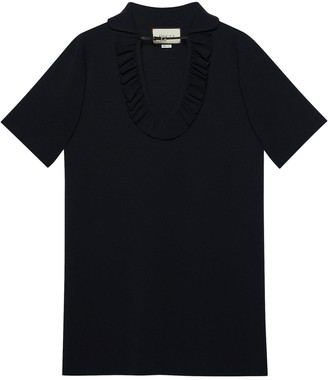 Gucci Ruffle-Trim Shift Dress