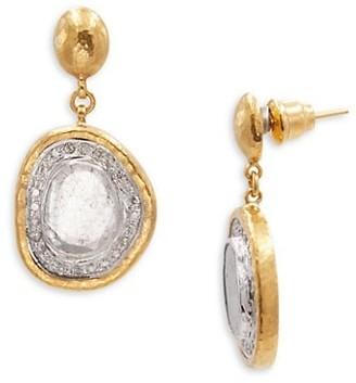 Gurhan Elements 18K & 24K Two-Tone Gold & Diamond Drop Earrings