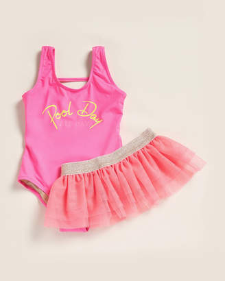 Pool' Shade Critters (Girls 4-6x) Two-Piece Pool Day Bathing Suit Set