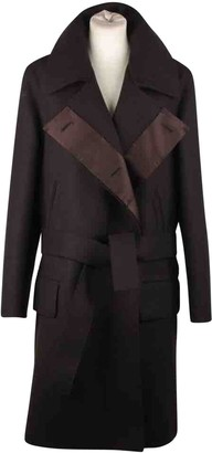 Gucci Brown Wool Coat for Women Vintage