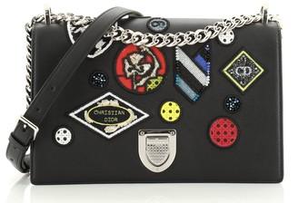 Christian Dior Diorama Flap Bag Patch Embellished Leather Medium
