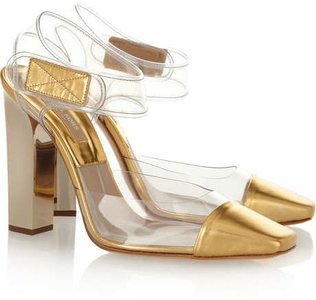 Michael Kors PVC and leather pumps