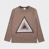 Paul Smith Boys' 7+ Years Brown Triangle Print 'Matheo' Top
