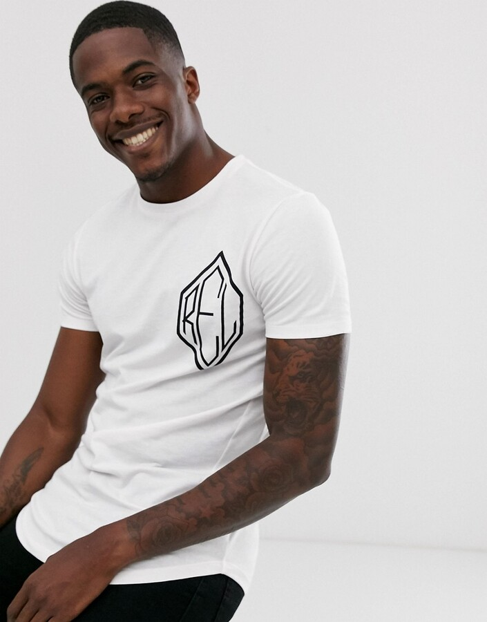 Religion t-shirt with chest logo in white