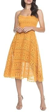 Dress the Population Brenna Lace Midi Dress