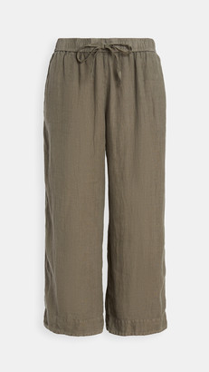 James Perse Linen Cropped Pants