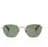 Alessandra Rich Round Sunglasses with Chain