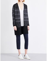 The White Company Textured wool-blend cardigan