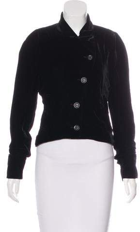 Ann Demeulemeester Velvet Structured Jacket