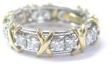 Tiffany & Co. Platinum 18K Yellow Gold Schlumberger Diamond Ring Sz 5.5