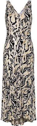 Paco Rabanne Abstract-Patterned Maxi Dress