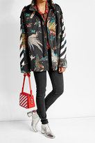 Off-White Off White Printed Cotton Parka