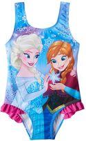Disney Disney's Frozen Anna & Elsa Toddler Girl Ruffle One-Piece Swimsuit