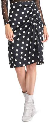 Rachel Roy Juniors' Susanna Gathered Polka Dot Midi Skirt