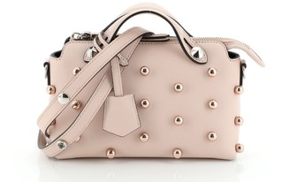 Fendi By The Way Satchel Studded Leather Mini