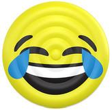 FLOATIE KING Yellow LOL Emoji Pool Float