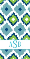 The Well Appointed House Personalized Beach Towel with Ikat Pattern
