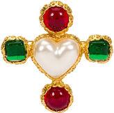 One Kings Lane Vintage 1980s Chanel Gripoix & Pearl Heart Pin