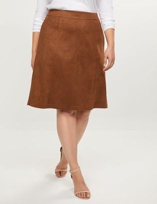 Lane Bryant Faux-Suede A-Line Skirt