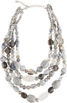 Lydell NYC Multi-Row Glass Beaded Necklace