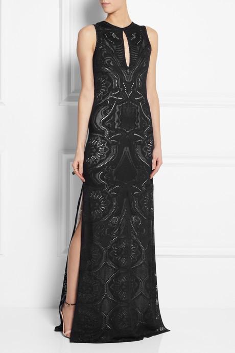 Roberto Cavalli Crocheted lace maxi dress