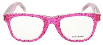 Saint Laurent 50MM Square Glitter Optical Glasses