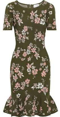 Milly Fluted Floral-jacquard Dress