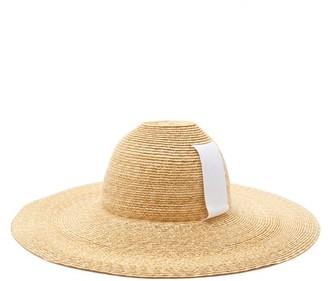Lola Hats Sugarcone Wide-brim Straw Hat - Beige White