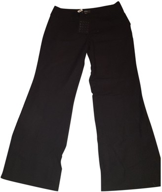 Whistles Black Cloth Trousers for Women
