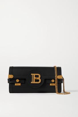 Balmain B-buzz Leather Shoulder Bag - Black