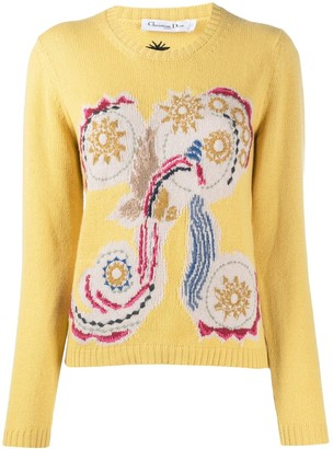 Christian Dior Pre-Owned Abstract Embroidery Jumper