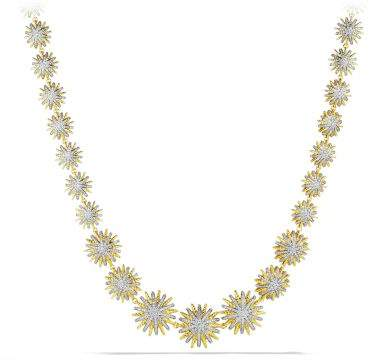 David Yurman Starburst Linked Necklace With Diamonds In 18K Gold