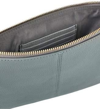 Accessorize Carmela Leather Cross-Body Bag -Grey