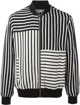 McQ by Alexander McQueen striped bomber jacket - men - Polyester/Cupro - 52