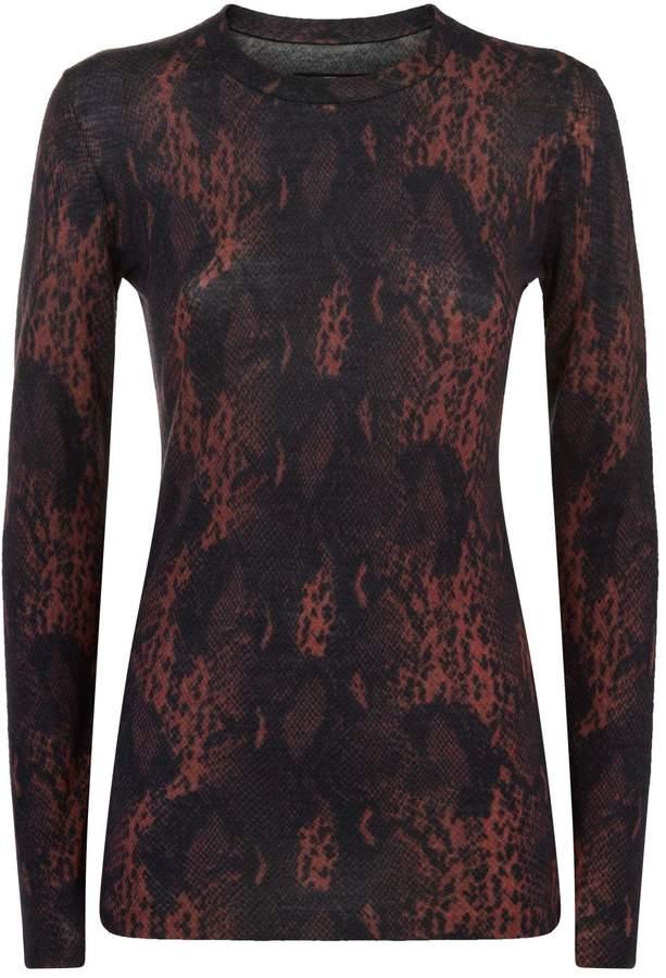 AllSaints Suki Snake Print Sweater