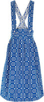 Ace&Jig Blue Cotton Jacquard Reversible Skirt