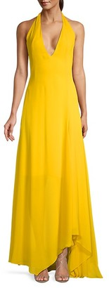 Akris Low Back Halter Gown